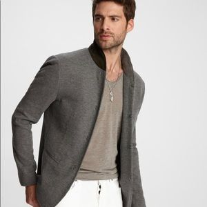 John Varvatos KNIT SHAWL COLLAR JACKET. US 42